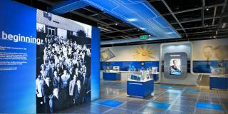 View of inside the intel museum in california